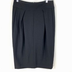 Donna Karan Collection Skirt pleated pencil wool